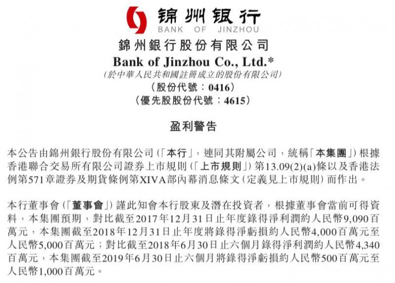"""锦州银行大消息,去年预亏40亿到50亿!刚引入工行、信达等战投,更有高层""""大换血"""""""