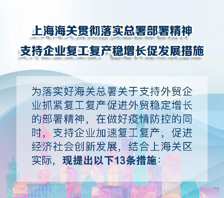 上海海關出臺支持外貿發展13條措施