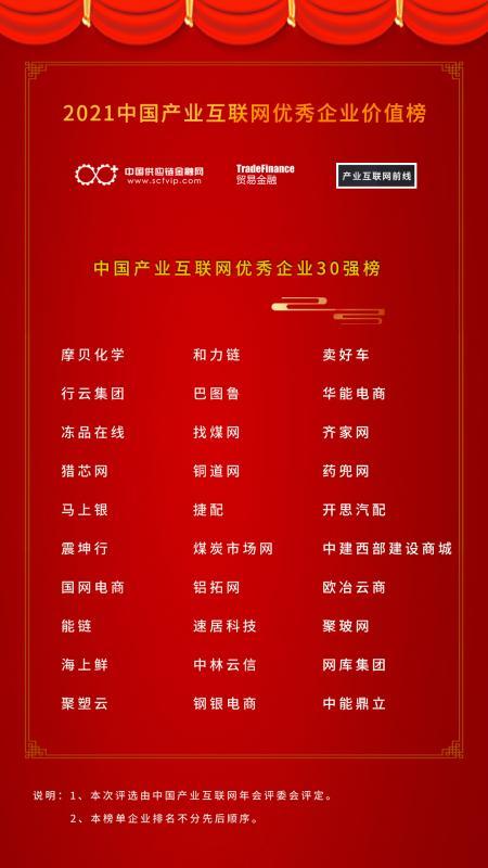 2021中国产业互联网年会暨中国产业互联网优秀企业价值榜颁奖典礼隆重召开